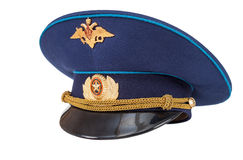 Russian military officer cap Royalty Free Stock Photo