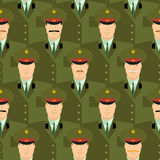 Russian military officers seamless pattern. Army background of p Royalty Free Stock Photography