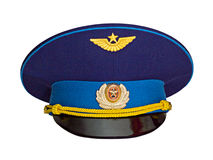 Russian military pilot's cap Royalty Free Stock Photography