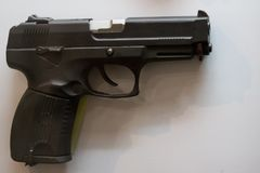 Russian military pistol - soviet weapon. Close up Stock Image