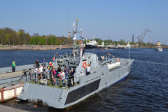 Russian military ship Royalty Free Stock Photography