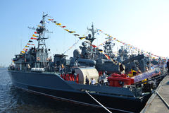 Russian military ship Stock Image