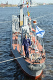Russian military ship Stock Photography