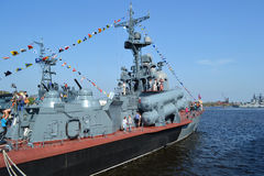 Russian military ship Royalty Free Stock Image