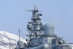 Russian military ship Royalty Free Stock Photo
