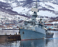 Russian military ship Royalty Free Stock Photos