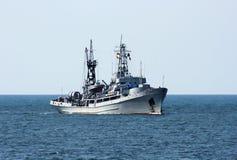 Russian military ship at sea. Sevastopol, Crimea, Ukraine stock photo
