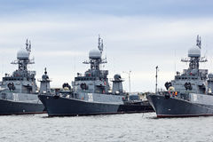 Russian military ships Royalty Free Stock Photo