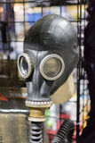 Russian Military Surplus Gas Mask on display Stock Images