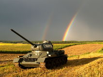 Russian military tank. From the Second World War Stock Photo