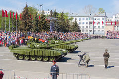 Russian military transport at the parade on annual Victory Day, Royalty Free Stock Photography