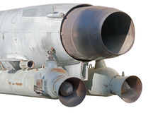 Russian missiles on white Stock Photo
