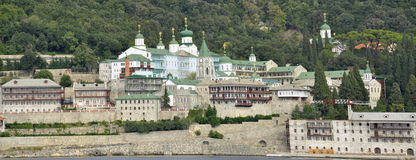 Russian moastery at mount Athos Greece Stock Images