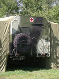 Russian mobile hospital Stock Photo