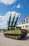 Russian mobile surface-to-air missile system 2K12M1 Kub-M1 Royalty Free Stock Images