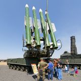 Russian modern self-propelled medium-range surface-to-air missile system  Buk-M2 Stock Photography