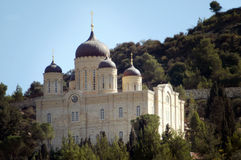 The Russian Monastery Church in Ein Karem Village Jerusalem Isra Stock Image