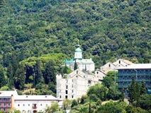 Russian monastery at the coast Royalty Free Stock Photos