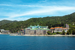 Russian monastery of the Holy Panteleimon at Athos Royalty Free Stock Photo