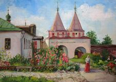 Free Russian Monastery In Suzdal, Sunny Summer Day, Oil Painting Royalty Free Stock Photo - 184478915