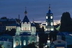 Russian monastery. Monastery Kurskaya Korennaya Rojdestvo-Bogorodichnaya Muzhskaya Pustin.Kursk region of Russia Royalty Free Stock Photos