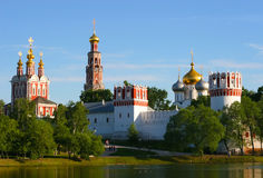 Russian monastery at a lake Royalty Free Stock Photo