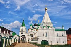 Russian Monastery in Summer Stock Photo