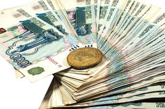 Russian money Royalty Free Stock Photo
