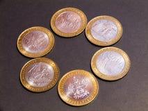 Russian money. Anniversary money.Cash Royalty Free Stock Photography