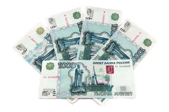 Russian money. 1000 rubles banknote Royalty Free Stock Photography