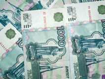 Russian money. Russian  big money. 1000 roubles Stock Photos