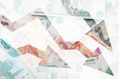 Russian money background. Banknotes closeup texture Stock Photography