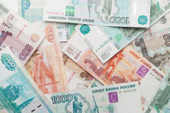 Russian money background Stock Images