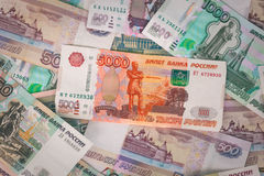 Russian money background. Royalty Free Stock Photo