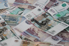Russian money background. Royalty Free Stock Photos