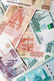 Russian money background. Rubles banknotes texture Stock Photography