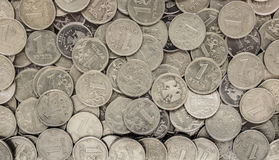 Russian money - coins rubles Royalty Free Stock Photos