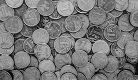 Russian money - coins rubles Stock Photography