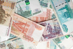 Russian money detailed background Royalty Free Stock Image
