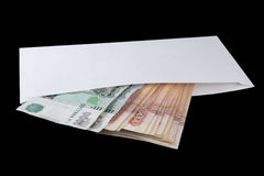 Russian money in envelope Stock Image