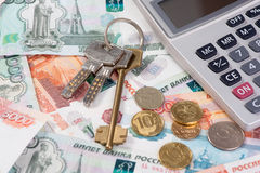 Russian Money and key Stock Photos