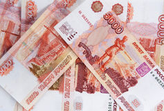 The Russian money - notes five thousand rubles Stock Photography