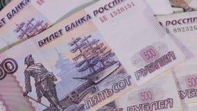 Russian money stock video footage