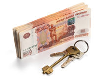 Russian money. Real estate concept Stock Images