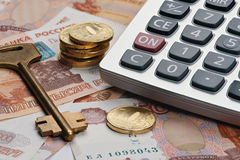 Russian money. real estate concept Royalty Free Stock Images