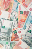 Russian money Rouble Banknotes background Stock Photography