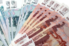 Russian money -  rubles Stock Images