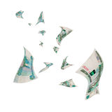 Russian money - rubles in the air. Stock Images