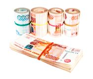 Russian money stacks royalty free stock images