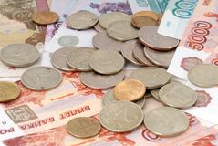 Russian moneys Royalty Free Stock Photo